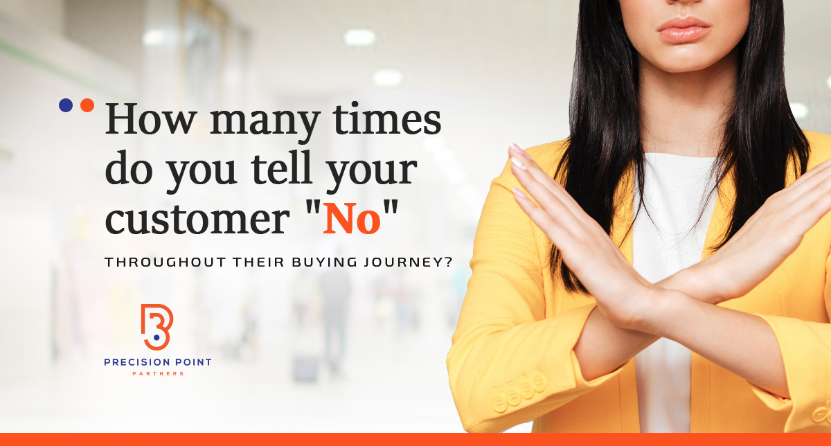How Many Times Do You Tell Your Customers 'No' Throughout Their Buying Journey?